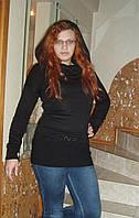"""Вязаный свитер-платье с капюшоном """"Маленькое черное плате"""", фото 1"""