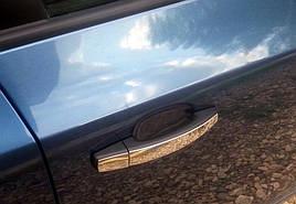 Накладки на ручки УЗКИЕ (4 шт., нерж., Omsa) - Opel Zafira B 2006-2011 гг.