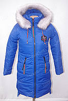 Теплая зимняя куртка на девочку до 164р