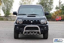 Кенгурятник QT006 (нерж) - Suzuki Jimny
