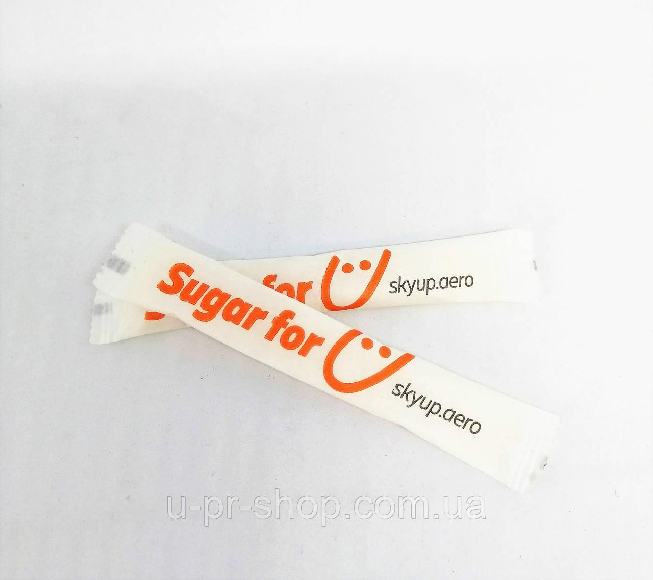 Сахар в стиках с Вашим логотипом от 20000 шт.