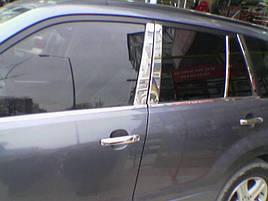 Молдинг дверных стоек (8 шт, нерж) - Suzuki Grand Vitara 2005-2014 гг.