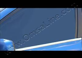 Окантовка стекол (4 шт, нерж) - Suzuki Grand Vitara 2005-2014 гг.