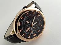 Мужские часы в стиле Patek  - SKY MOON, корпус - золотистый, кварцевые, фото 1