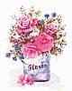 AS0345 Набор живописи по номерам Цветочный стиль