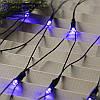 """Гирлянда """"Сетка"""" 120 LED 1.5м x 1.5м синяя на черном проводе 8mm, фото 2"""