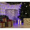 """Гирлянда """"Сетка"""" 120 LED 1.5м x 1.5м синяя на черном проводе 8mm, фото 3"""