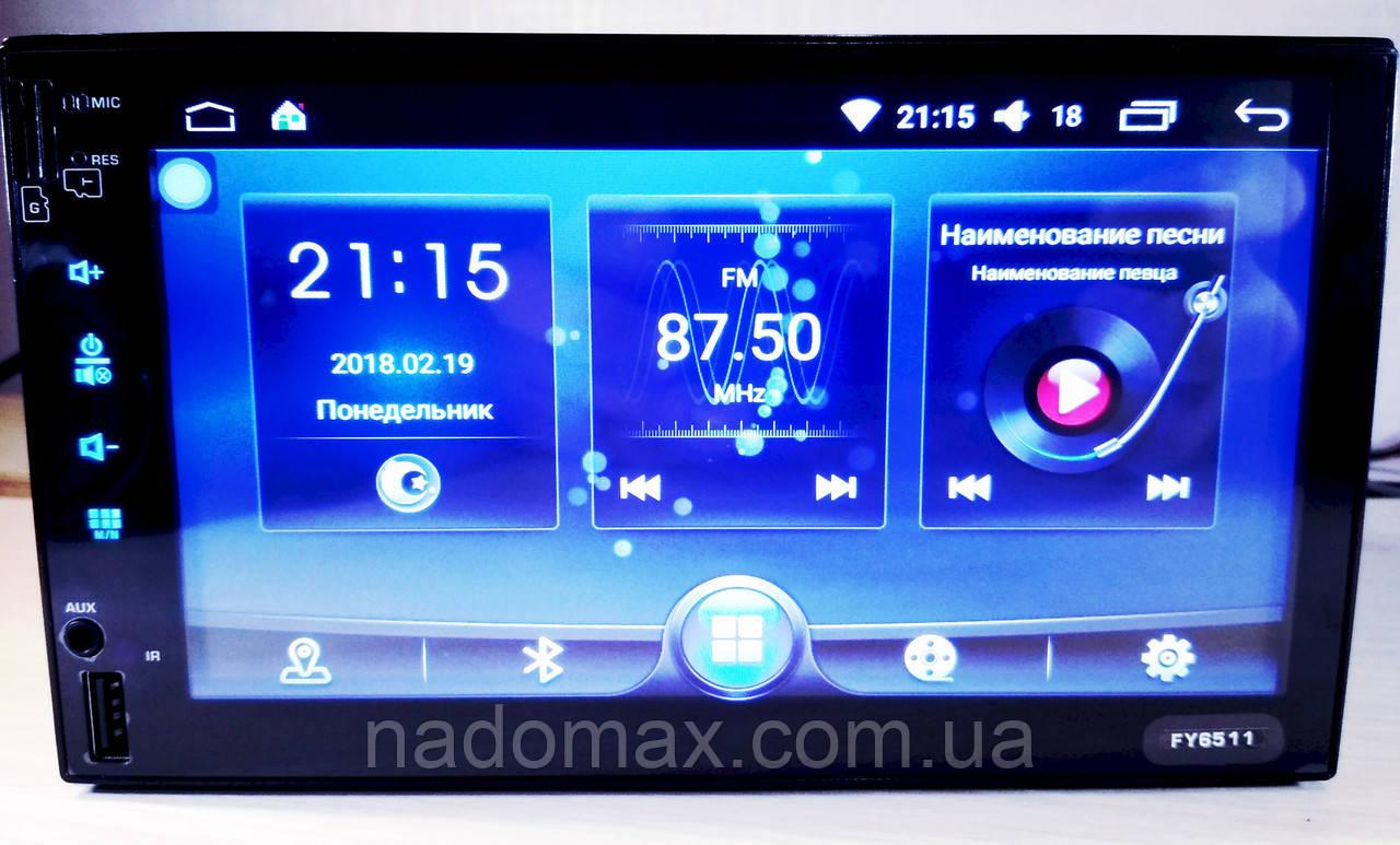 "Автомагнитола 2DIN Pioneer FY6511  Android 6, 3USB/Wi-fi/GPS/BT/7"""