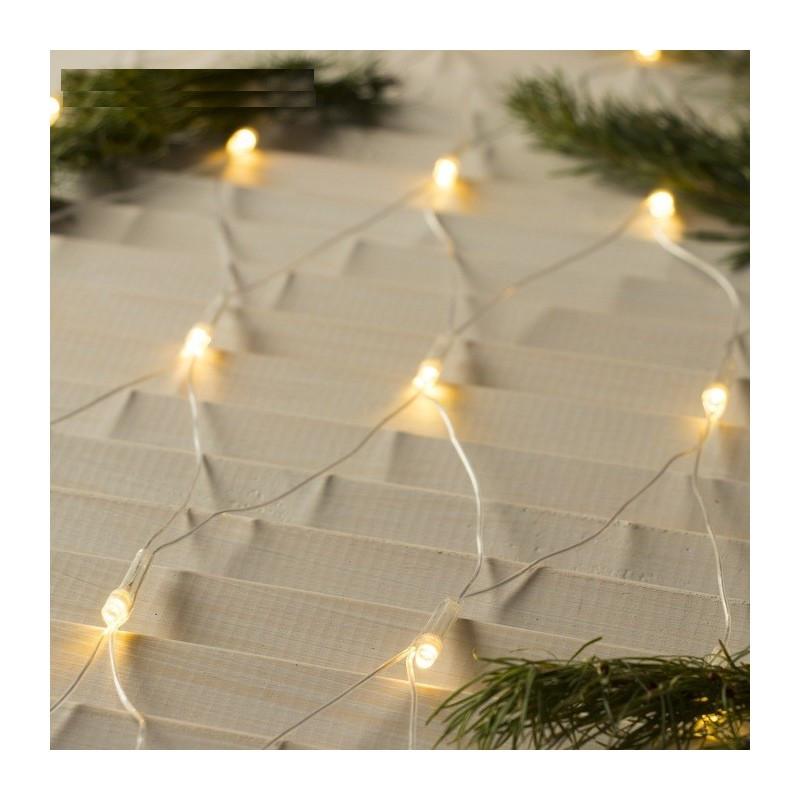 """Гирлянда """"Сетка"""" 200 LED 2м x 2м тепло белая на прозрачном проводе 5mm"""