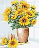 AS0337  Набор живописи по номерам Подсолнухи в вазе