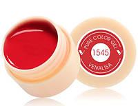 Гель краска, цветной гель Canni, 5 мл 1545 красная