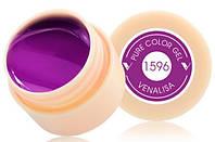 Гель краска, цветной гель Canni, 5 мл 1596 фиолетовая