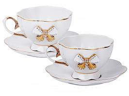 """Фарфоровый чайный набор на 2 персоны """"Принцесса"""" Lefard 55-2899"""