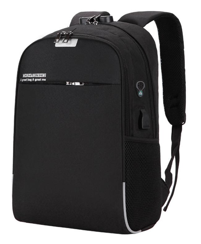 Рюкзак городской для ноутбука Menxia Черный