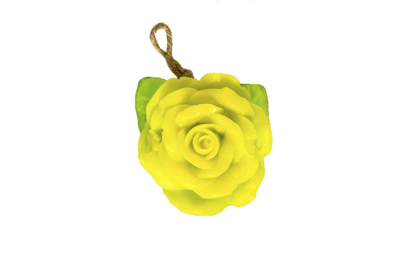 Мыло ручной работы в форме Розы с веревочкой (s 6_1)