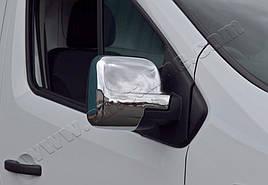 Накладки на зеркала (2 шт, пласт) - Renault Trafic 2015+ гг.
