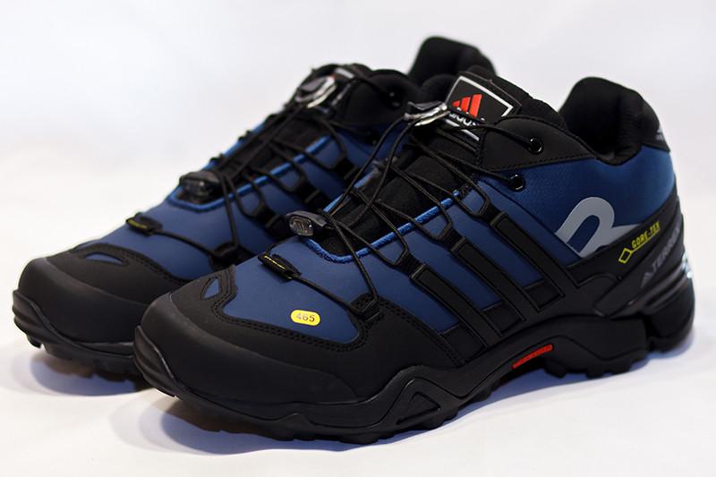 Кроссовки адидас терекс зимние синие черныеповседневные с мехом (реплика) Adidas Terrex Blue Black Winter