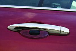 Накладки на ручки (4 шт., нерж.) - Renault Velsatis 2006+ гг.