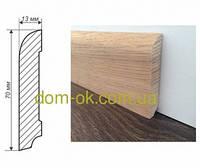 Плинтус деревянный из дуба или ясеня размер 70х13 мм  ТИП 2