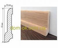 Плинтус деревянный из дуба или ясеня размер 70х16 мм  ТИП 3 Цена