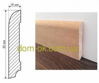 Плинтус деревянный из дуба или ясеня размер 80х13мм  ТИП 1