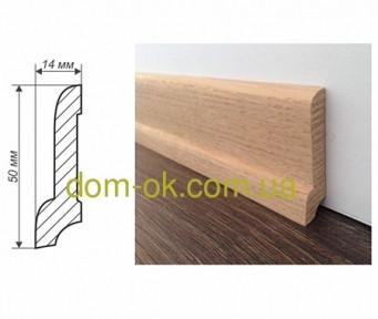 Плинтус деревянный из дуба или ясеня размер 50х14 мм ТИП 23*