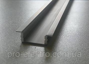 """Серия """"Econom"""" Профиль алюминиевый LED врезной ПВ7 6,8х16мм, анодированный, цвет - серебро., фото 2"""