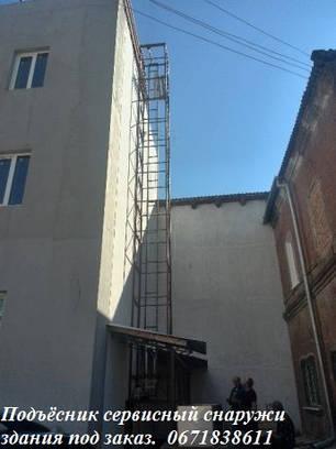 Ресторанный лифт, монтаж снаружи здания. , фото 2