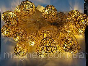 Гірлянда Золота сфера 20 Led-лампочок