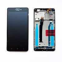 Дисплей (экран) для Xiaomi Redmi 3x с сенсором (тачскрином) и рамкой черный