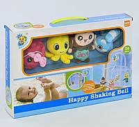 Мобиль на кроватку музыкальный с мягкими игрушками, 26 мелодий, код D101