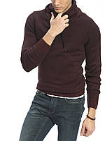 Мужской свитер бордовый LC Waikiki / ЛС Вайкики с воротником-хомут XL