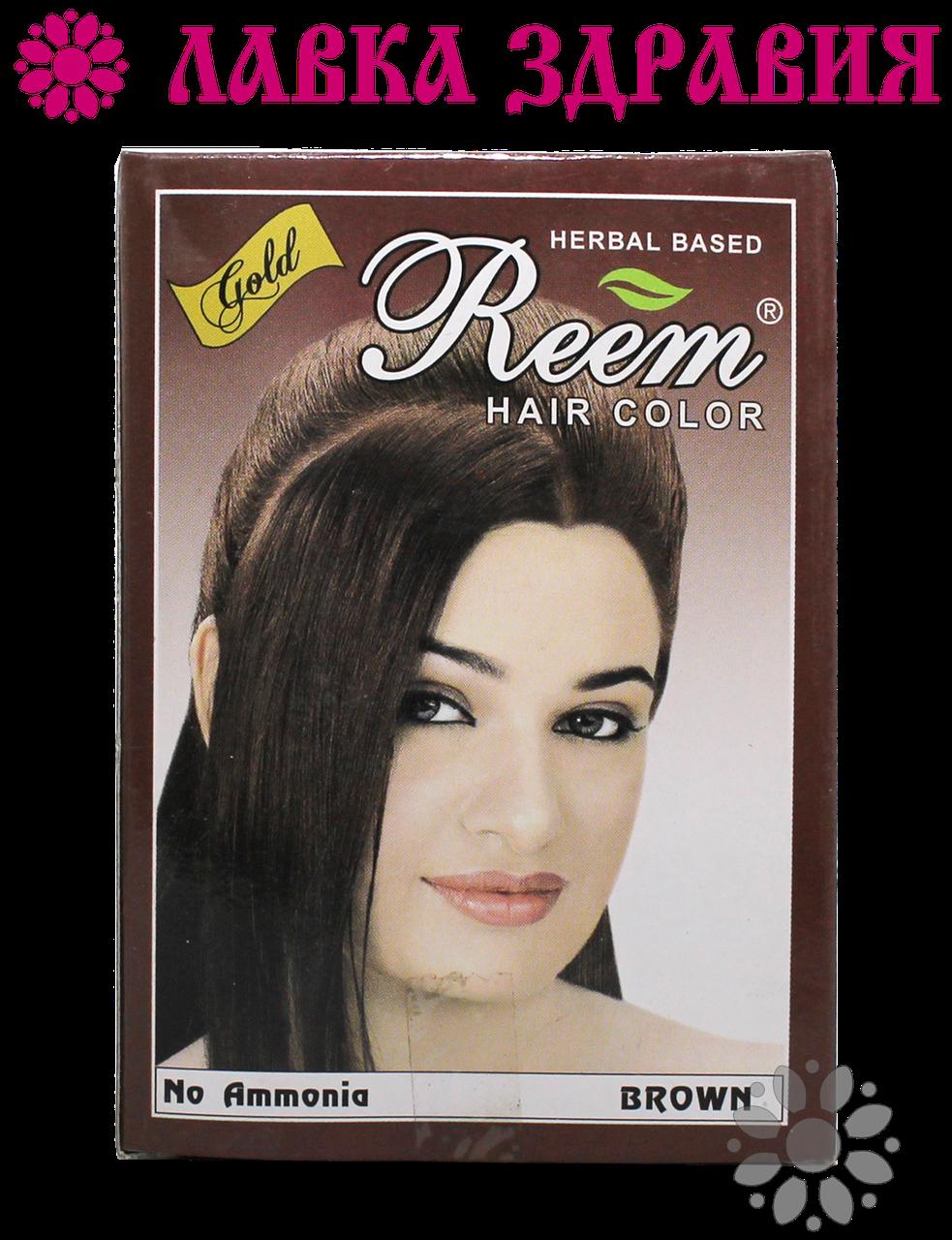 Безаммиачная краска для волос Reem Gold Коричневый, Triuga, 60 г