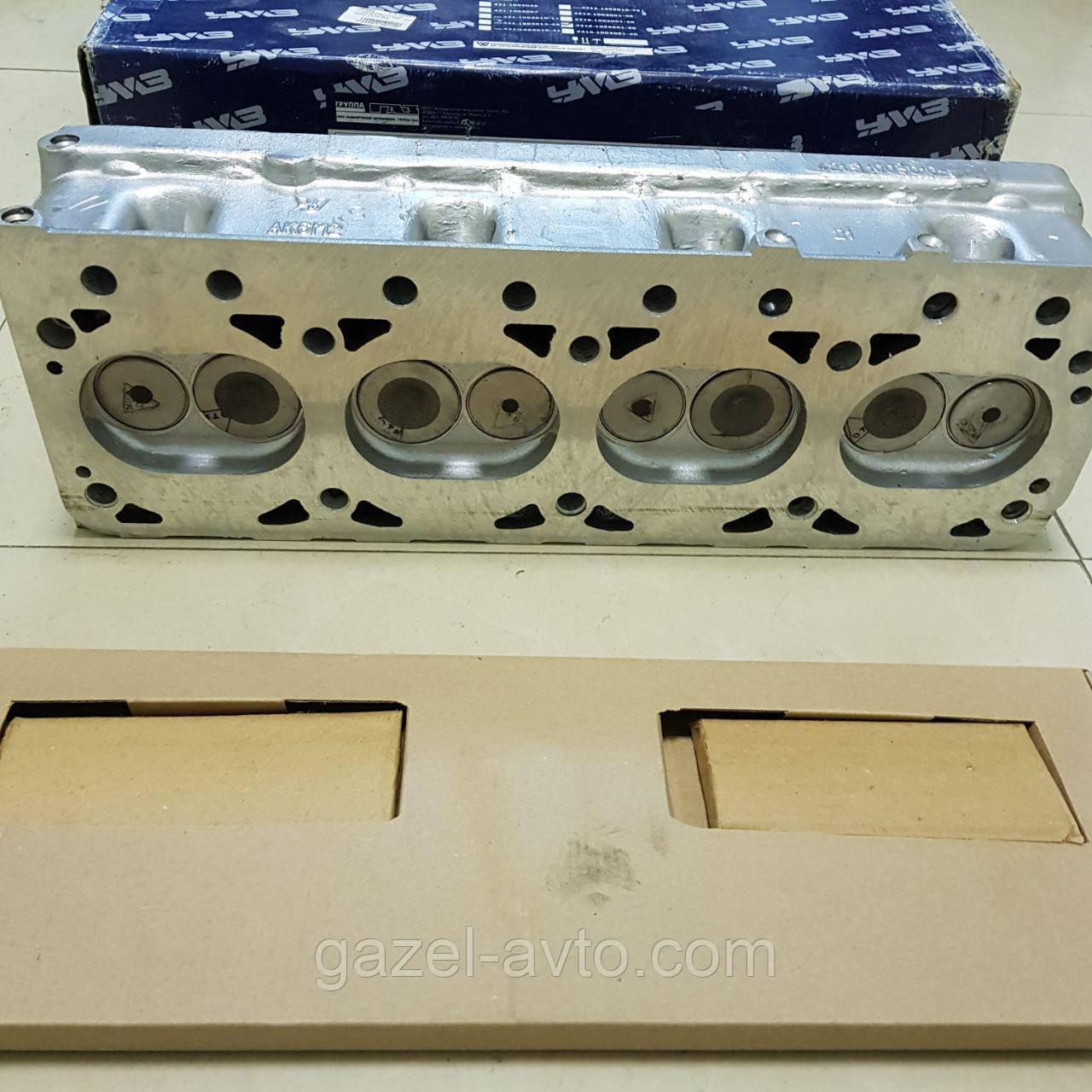 Головка блока Газель,УАЗ дв.4216,4213 инжект с клапанами, прокладкой и крепежами (пр-во УМЗ)