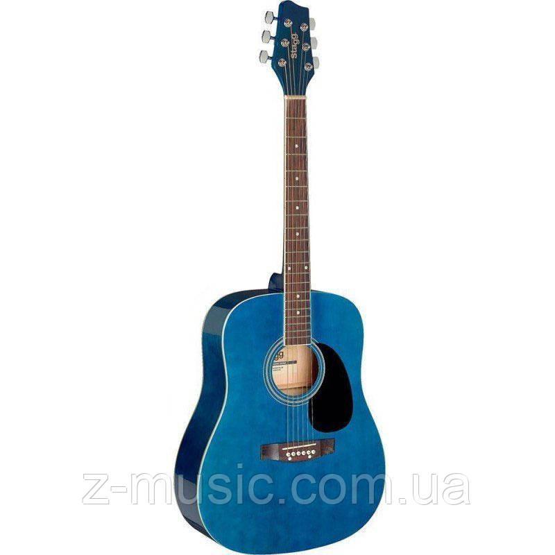 Акустическая гитара STAGG SA20D BL (отстроенная мастером) + 2 медиатора