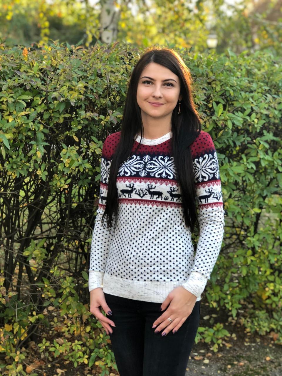 Стильный женский свитер мягка качественная вязки с добавлением  полушерсти 44, 46, 48 размер норма и батал