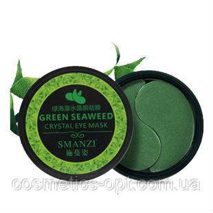 Гидрогелевые патчи под глаза Smanzi Green Seaweed Crystal Eye Mask c экстрактом морских водорослей
