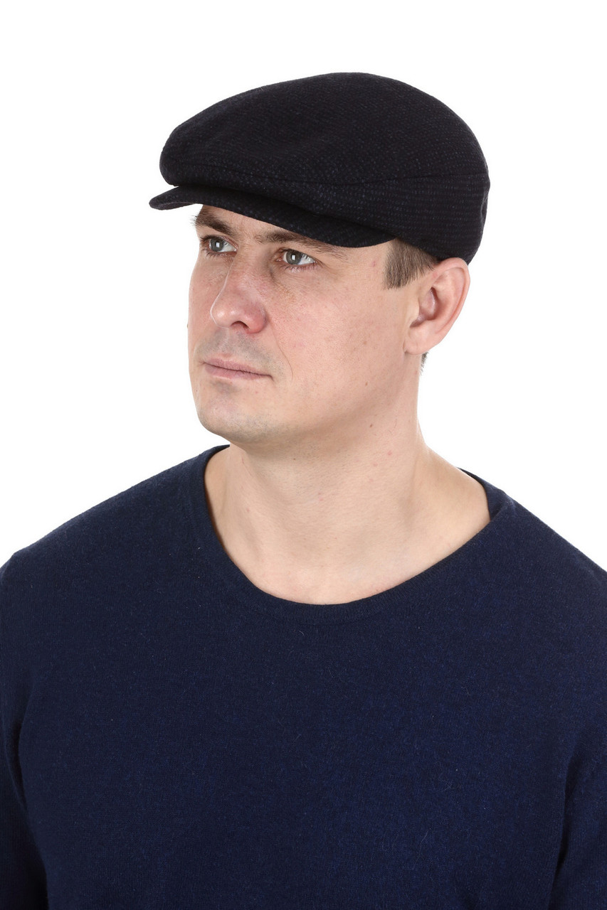 Кепка мужская синяя  реглан