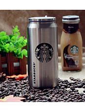 Термобанка Starbucks 500 мл металлическая, фото 2