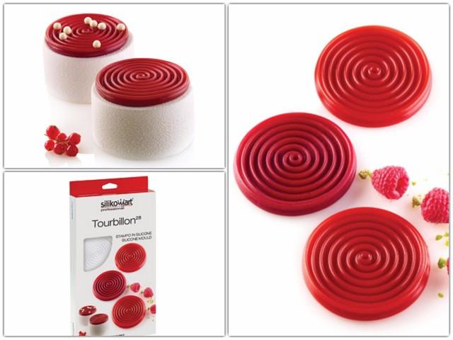 Силиконовая форма для десертов Silikomart TOURBILLON28 Италия -06564