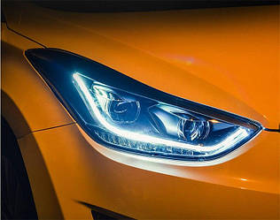 Передние фары LED тюнинг оптика Hyundai Elantra MD ксенон