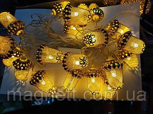 Гірлянда Золоті жолуді 20 Led-лампочок