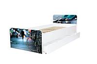 Кровать с ящиком Viorina-Deko BEVERLY 014 Светло-серый 80×190