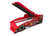 Кровать с подъемным механизмом+матрас Viorina-Deko Formula 1 Ray-Ban Красный 80х170