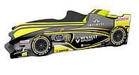 Кровать с подъемным механизмом+матрас Viorina-Deko Formula Renault Sport Желтый 80х170