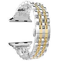 Металлический ремешок Primo Steel Link для часов Apple Watch 38mm / 40mm - Silver/Gold