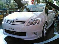 Накладка на передний бампер (под покраску) - Toyota Auris 2007-2012 гг.