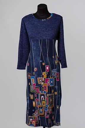 """Стильное женское платье ткань """"Ангора"""" 54, 56, 58 размер батал, фото 2"""