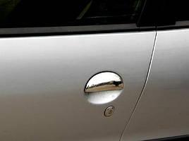 Накладки на ручки (2 шт, нерж) - Toyota Aygo 2007+ гг.