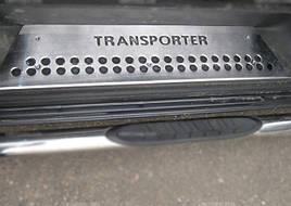 Накладки на пороги (нержавейка) - Volkswagen T5 Transporter 2003-2010 гг. 3 двери
